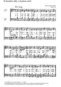 Bach, JS: O Jesulein süß; Weßnitzer: Das ist ein sel'ge Stunde