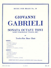 Giovanni Gabrieli: Sonata Octavi Toni (12-Part Brass) (Score/Parts)