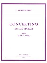 Armand Heck: Concertino en sol maj. Op.40