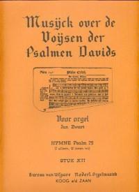 Jan Zwart: Stuk 12 Hymne Psalm 75 U