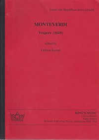 Monteverdi: Vespers (1610) Score (Red Version)