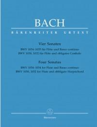 Bach, JS: Sonatas (4) (BWV 1030 B min&#x3B; BWV 1032 A maj&#x3B; BWV 1034 E min&#x3B; BWV 1035 E maj.) (Urtext)