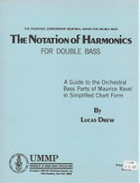 Lucas Drew/Maurice Ravel: The Notation of Harmonics for Double Bass