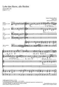 Bach, JS: Lobet den Herrn, alle Heiden (BWV 230&#x3B; C-Dur)