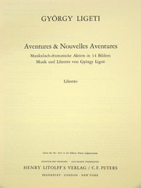 Ligeti, G: Aventures & Nouvelles Aventures