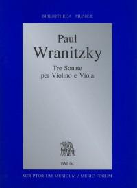 Tre Sonate per Violino e Viola