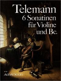 Telemann: 6 Sonatinas TWV 41:D2,E1,E4,F1,G3,A2,B2