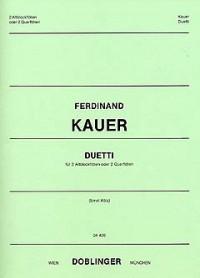 Kauer, F: Duetti