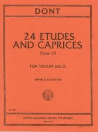 Dont, J: Etudes & Caprices op.35