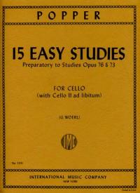 Popper, D: 15 Easy Studies Op. 76 & 73