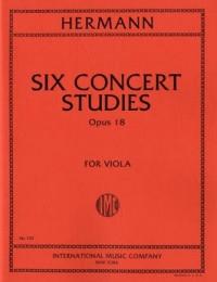 Hermann, F: Six Concert Studies op.18
