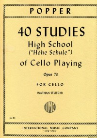 Popper, D: High School Of Cello Playing Op. 73