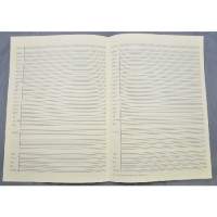 Music manuscript paper 31 staves with bar lines pre-printed instruments