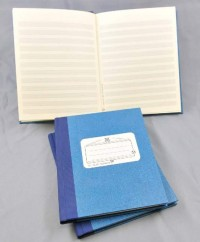 Star: Music manuscript book blue 12 staves