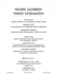 M. Jacobsen: Violin Gymnastics - Physical Exercises
