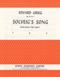 Edvard Grieg: Solveig's Song (Medium Voice)