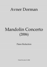 Avner Dorman: Mandolin Concerto - Piano Reduction