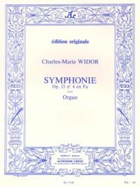 Charles-Marie Widor: Symphonie 4 Opus 13