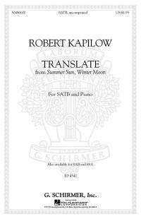Robert Kapilow: Translate