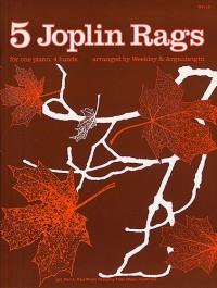 Five Joplin Rags For Piano Duet
