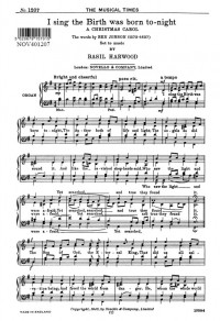 Basil Harwood: I Sing The Birth Was Born To-Night