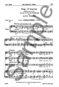 William Lloyd Webber: Sing, O Heavens