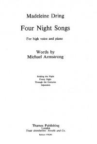 Madeleine Dring: 4 Night Songs