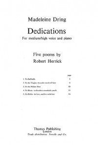Madeleine Dring: Dedications