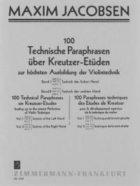 Jacobsen: Technische Paraphrasen über Kreutzer-Etüden Band 1 Heft 1a