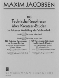 Jacobsen: Technische Paraphrasen über Kreutzer-Etüden Band 2 Heft 1b