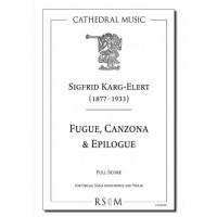 Karg-Elert: Fugue, Canzona & Epilogue (full score/violin part)