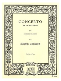 Eugene Goossens: Concerto In One Movement For Oboe And Orchestra Op.45 (Oboe/Piano)