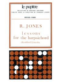Jones: Lessons fot the harpsichord (pièces de clavecin)