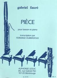 Gabriel Fauré: Pièce (Bassoon/Piano) (Oubradous)