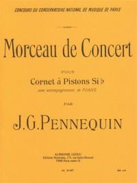 J. G. Pennequin: Morceau de Concert (Cornet/Piano)