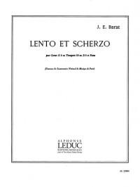 Joseph Edouard Barat: Lento Et Scherzo (Trumpet/Piano)