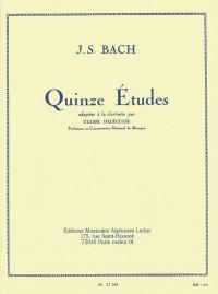 J.S. Bach: 15 Études For Clarinet (Delécluse)