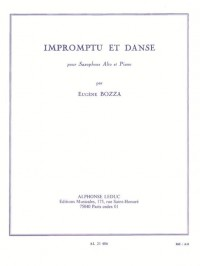 Eugène Bozza: Impromptu Et Danse (Alto Saxophone/Piano)