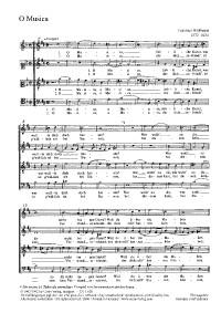 Widmann: O Musica (e-Moll)