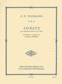 G. P. Telemann: Sonata For Soprano Saxophone And Piano (Londeix)