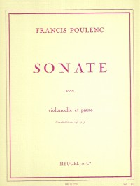 Francis Poulenc: Sonata For Cello And Piano
