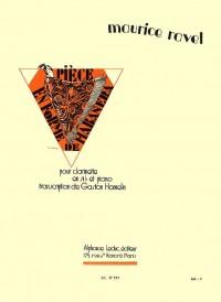 Maurice Ravel: Pièce En Forme De Habanera (Clarinet/Piano) (Hamelin)