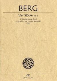 Berg: Vier Stücke für Klarinette und Klavier (5)
