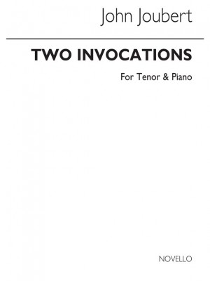 Joubert: Two Invocations Op.26 for solo Tenor and Piano Product Image