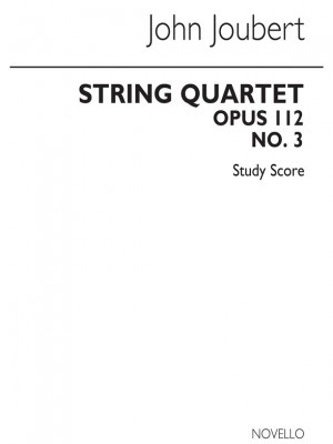 John Joubert: String Quartet No.3 (Score)