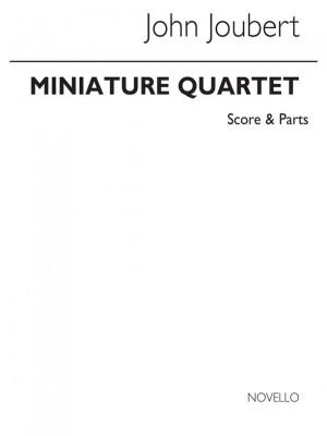 John Joubert: Miniature String Quartet Op10 Score And Parts