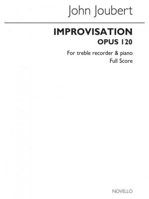 Joubert, J Improvisation Treble Recorder And Piano