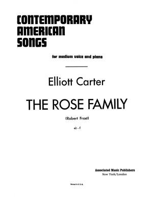 Elliott Carter: Rose Family