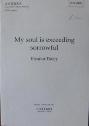 Daley: My soul is exceeding sorrowful