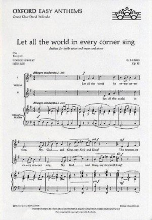 Lang: Let all the world in every corner sing
